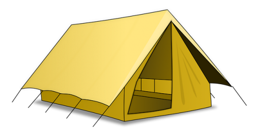 Stellplatz für mittlere Zelte